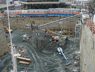 IDX tower cleanup - large construction site