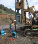 Phase II subsurface investigation heavy equipment