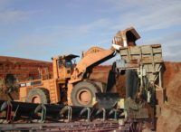 mining site with heavy machinery