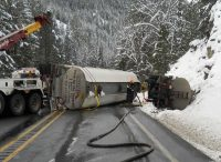 Tanker Spill in mountains